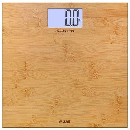 American Weigh Scales - Digital Bathroom Scale - Bamboo (Green), 330ECO