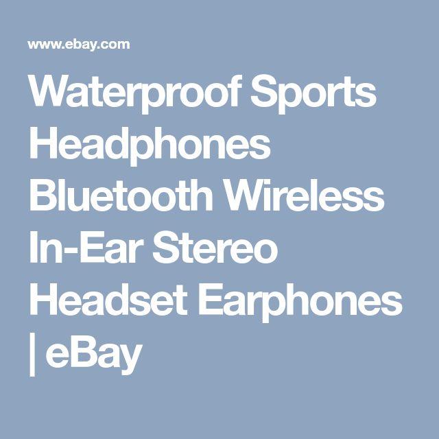 Waterproof Sports Headphones Bluetooth Wireless In-Ear Stereo Headset Earphones | eBay
