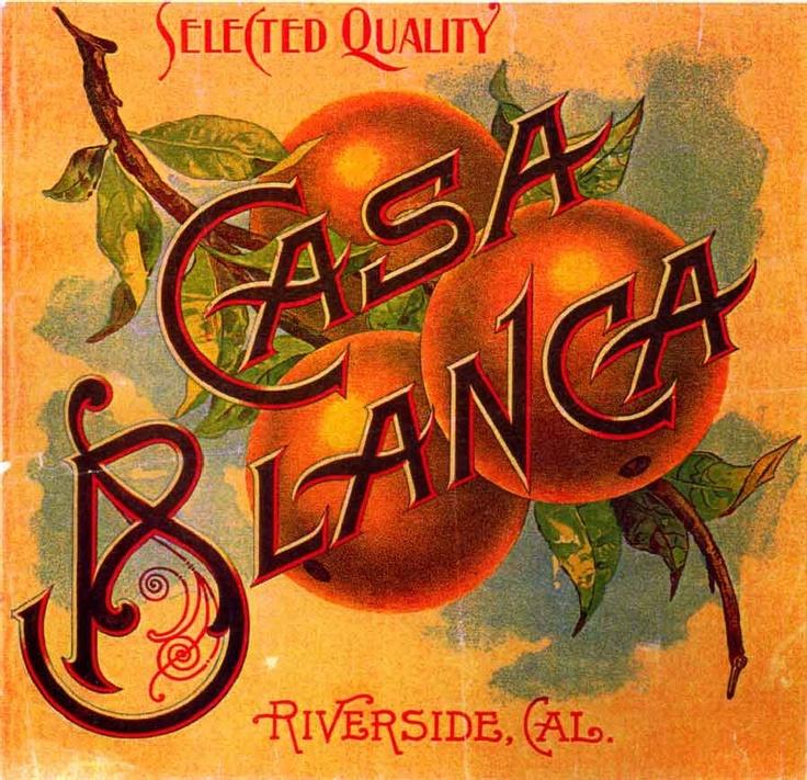 Vintage citrus labels