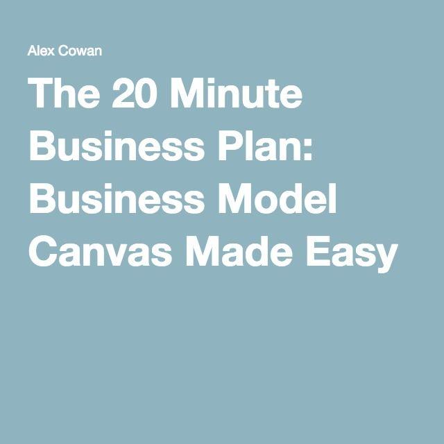 20 min business plan - 5 minute business plan