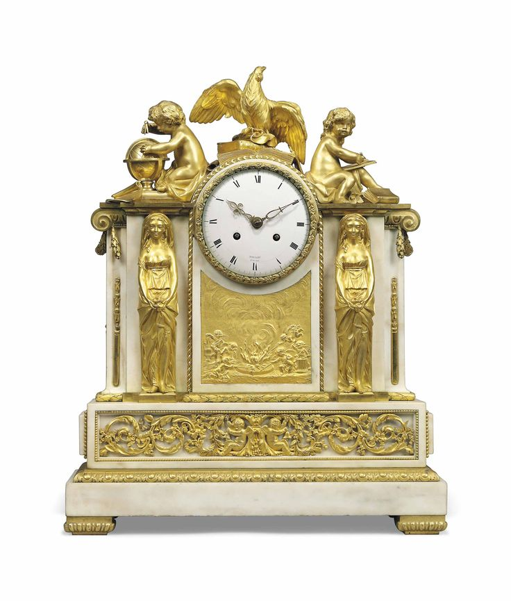 date unspecified A LATE LOUIS XVI ORMOLU AND WHITE MARBLE STRIKING MANTEL CLOCK RIEUSSEC, PARIS, LATE 18TH CENTURY Price realised  GBP 9,375