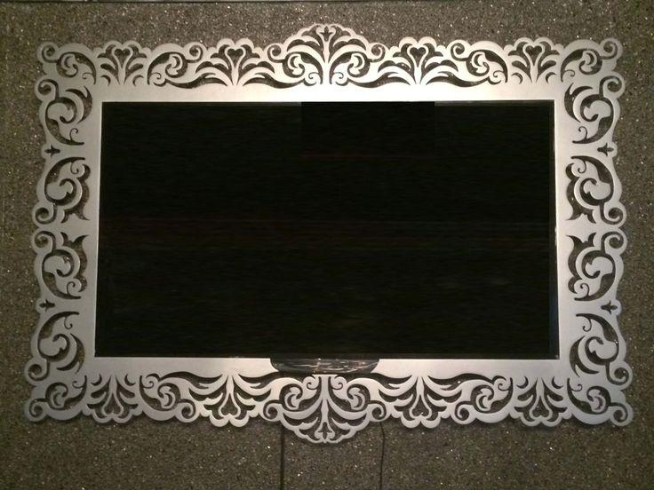 Laser cut metal TV frame