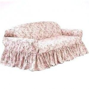 Simply Shabby Chic Rosalie Sofa Couch Slipcover Pink Roses Vintage
