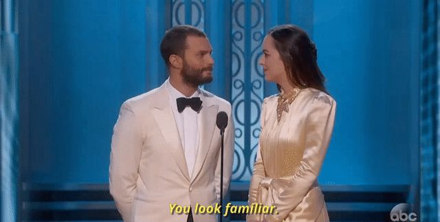 Jamie Dornan Was in No Mood to Humor Dakota Johnson at the 2017 Oscars