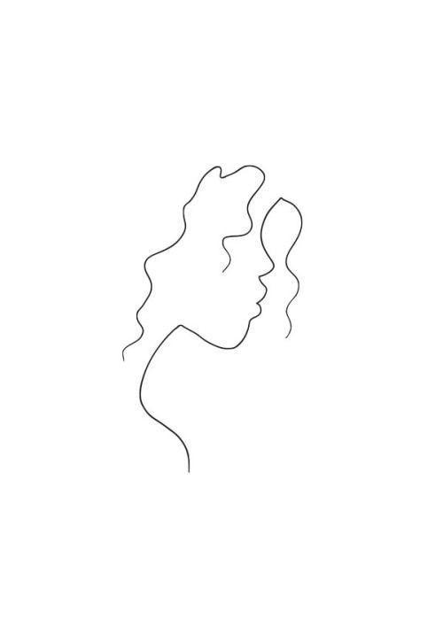 Duda das bist du Diese Zeichnung ist ein Mädchen, das lockiges Haar hat – Ertas