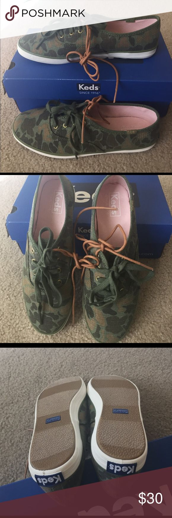 NWT Keds Sneakers New Keds cute and stylish sneakers. Extra shoe laces . Cushy and comfy footbed. Keds Shoes Sneakers
