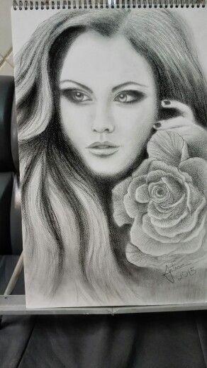 Ms de 25 ideas increbles sobre Dibujo de rostro femenino en