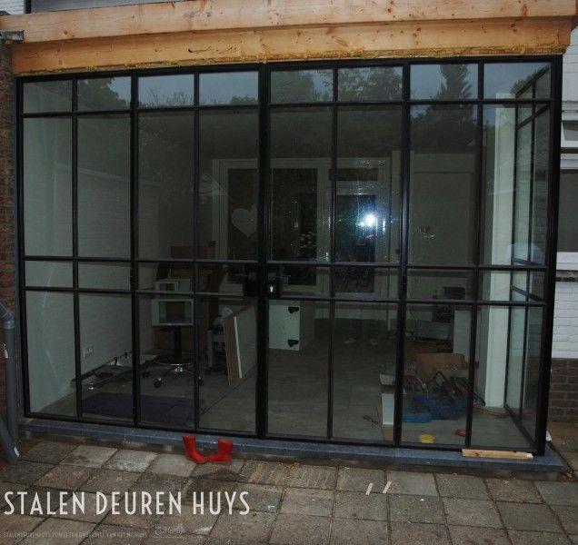 Stalen buitenpui & deur met HR++ glas, Project Doetinchem