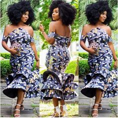 Zaineey's Blog : Check Out Creative Ankara Gown Style For Ladies