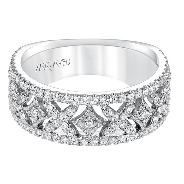 Contemporary Prong Set Diamond Fashion Anniversary Band