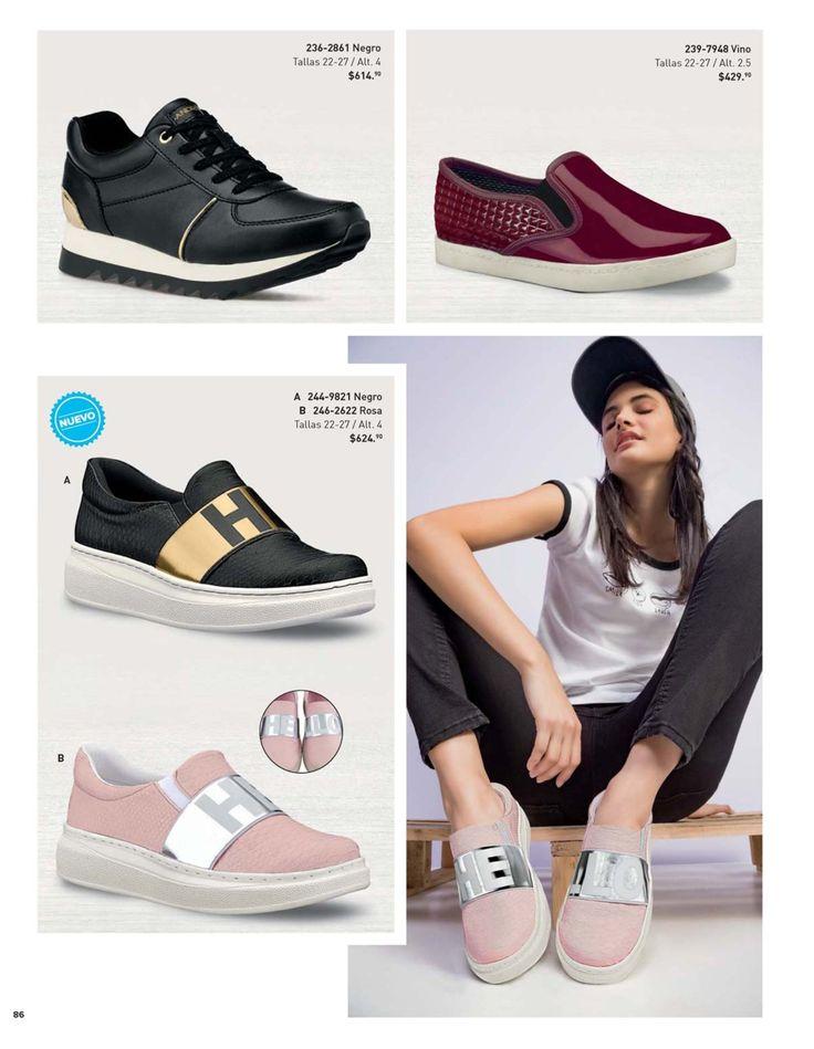 Tenis Sneakers para Mujer del catalogo andrea verano. Tenis de moda. #ZapatosAndrea #CatalogoAndrea