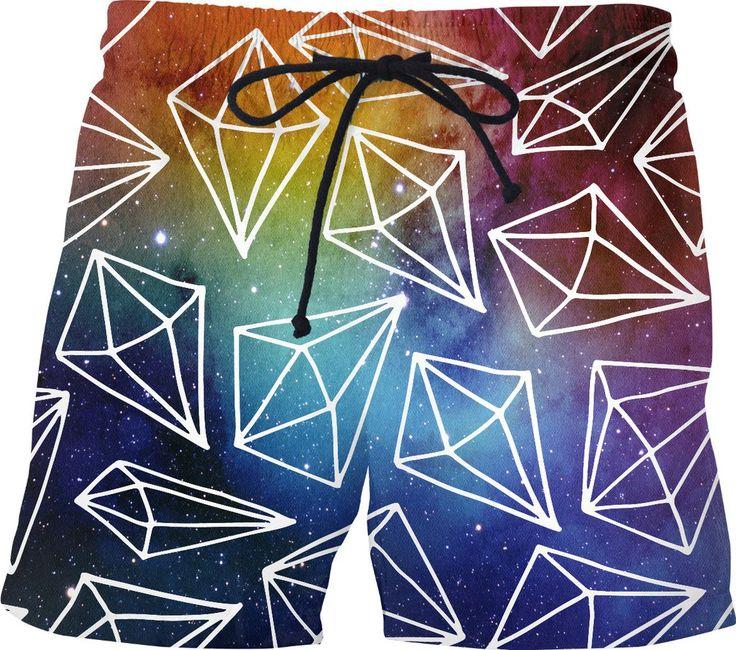 Space Diamond Swim Shorts for this Hot Summer  #swimshorts #summer2017 #summer #diamonds #space #watercolors #colors #rageon #original #gift #shorts #swimtrunks