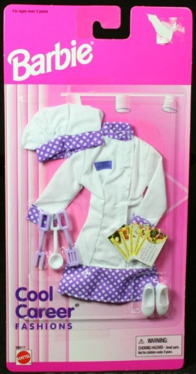 1996 Barbie Cool Career Fashions Chef Outfit