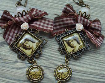 earrings handmade, vintage earrings