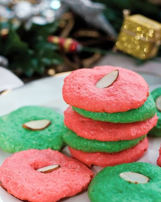 """For Recipe: CLICK on PIC and when taken to 2nd pic click again..Low-Carb Holiday Almond Cookies....     ...Recipe by George Stella...  ...For tons more Low Carb recipes visit us at """"Low Carbing Among Friends"""" on Facebook"""