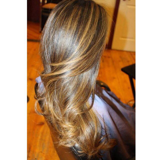 Balayage Highlights On Dark Brown Asian Hair Hair That I Do Love