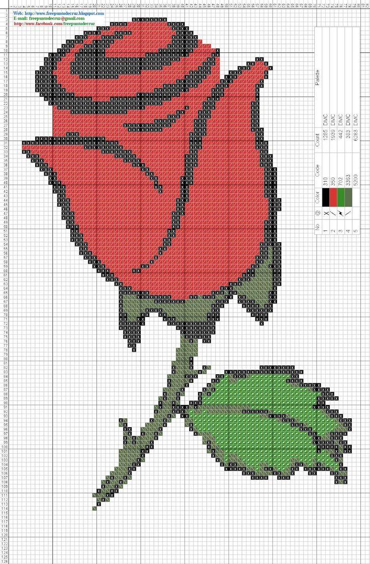 Las 25 mejores ideas sobre dibujos de flores de ganchillo - Dibujos para hacer punto de cruz ...