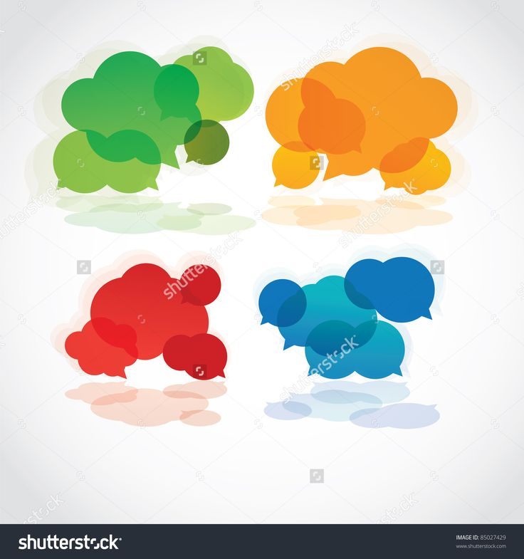 Speech Cloud Collection, Vector - 85027429 : Shutterstock