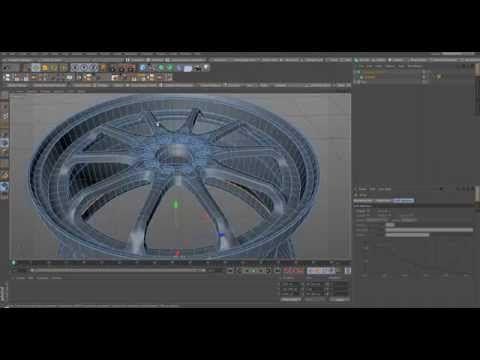 Cinema 4D Rim Speed Modeling Sub-D Modeling - YouTube
