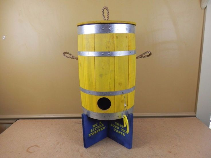Twisted Tea Wooden Keg Barrel Drink Dispenser Hard Iced Tea Bar Mancave Decor
