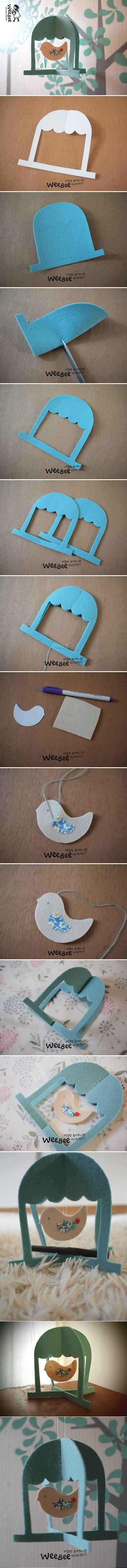 DIY Cute Felt Bird Mobile