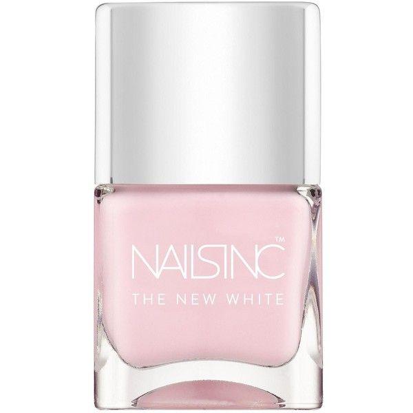 Nails Inc The New White Lilly Road Nail Polish & Free Nails Inc Nail... ($20) ❤ liked on Polyvore featuring beauty products, nail care, nail, filler and nails inc.