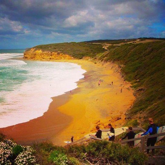 Bell Beach one of the best surfing site #bellbeach #bell #beach #prosurfer #surfing #greatoceanroad #surfing #surfer #summer #surfingboard #victoria #melbourne #australia #freestyle ocean #bigwave #instasurf #billabong by oko_anto