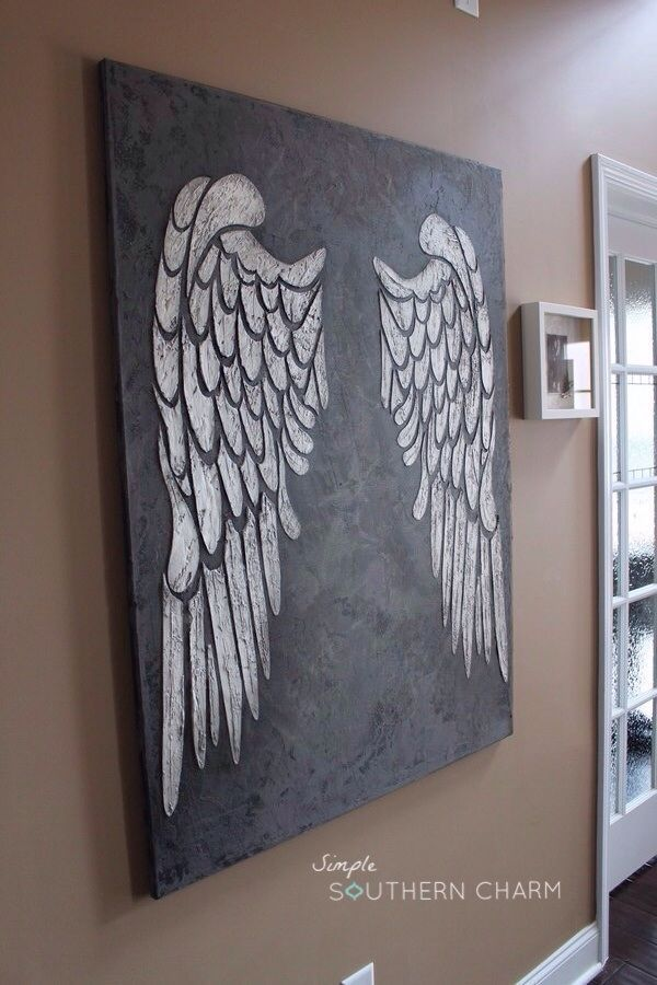 Angel Wings on Canvas! - All Things Heart and Home: