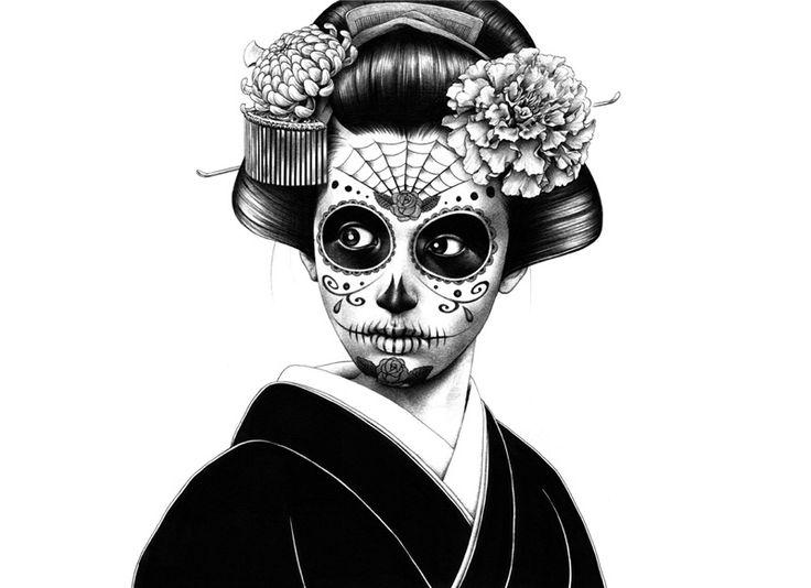 Muertos Maiko!  (La Catrina by Shohei Hakuchi - http://www.hakuchi.jp)