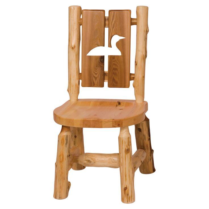 Fireside Lodge Furniture Cedar Cut-Out Log Side Chair - 16161