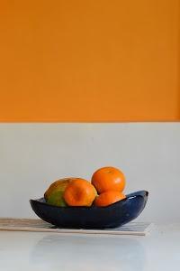 Tangerines by Priyanka Nayar - Tangerines in a fruit bowl.