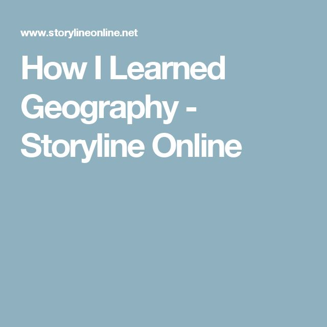 How I Learned Geography - Storyline Online