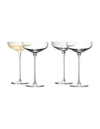 LSA INTERNATIONALSet of Four Wine Champagne Saucers