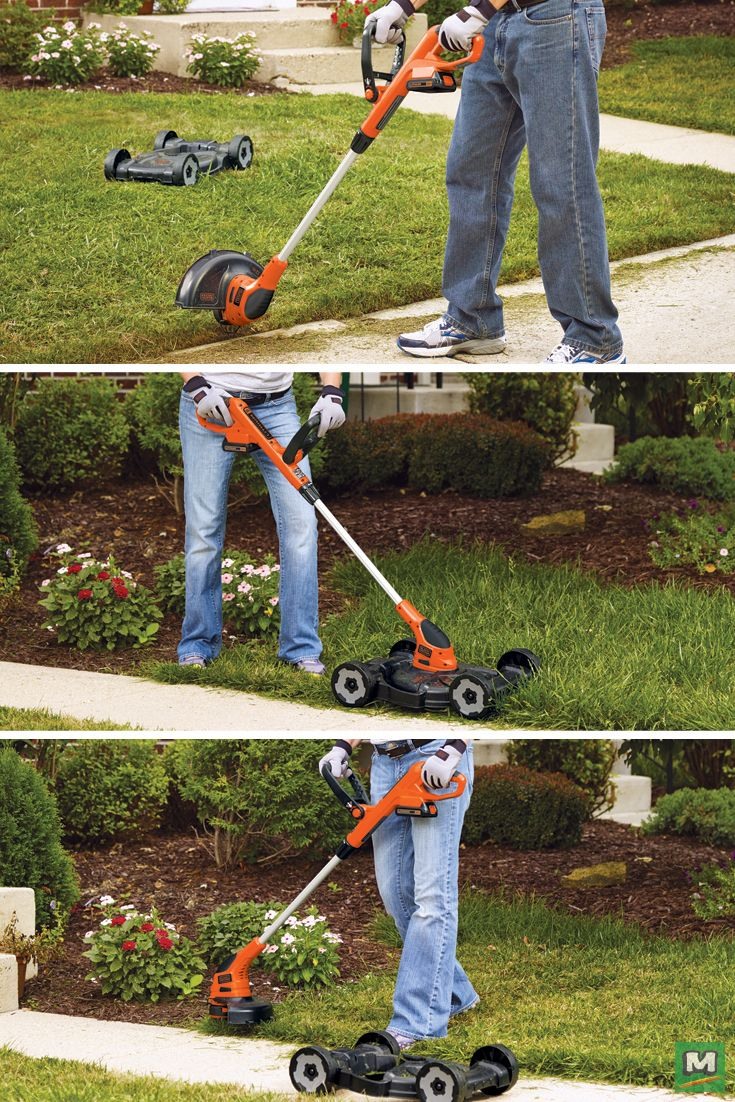 """Complete all your landscaping tasks with the BLACK+DECKER™ 12"""" 20-Volt Push Lawn Mower. Using a PowerDrive™ transmission, this lawn mower can mow, trim and even edge a thick lawn with ease! It also features an Automatic Feed Spool to continuously work without bogging down, bumping or breaking."""