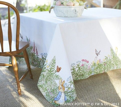 Peter Rabbit Tablecloth Pottery Barn Kids Beatrix