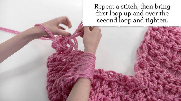Arm Knitting for Beginners Tricô de Braço para iniciantes
