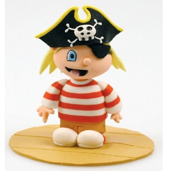 Pirate Cake Topper porcelana fria polymer clay