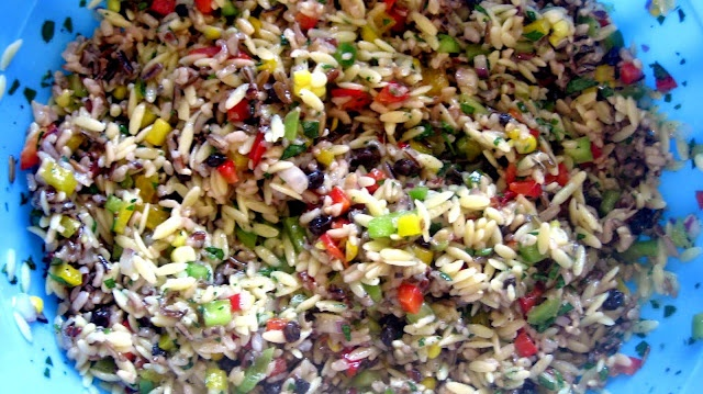 J. Alexander's Wild Rice and Orzo {salad}:  I love this salad!Simply Scratch, Side Dishes, Alexander'S Orzo, Food Ideas, Wild Rice, Orzo Salad, Alexander'S Wild, Rice Salad, Alexander Wild