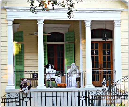Halloween Porch 2015 NOLA People At Work And Play