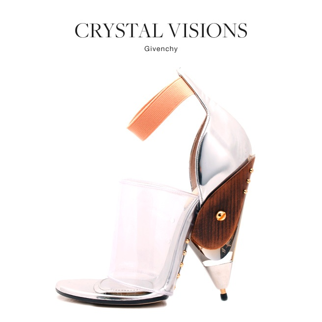 Part peg-leg, part glamour. @Givenchy's crystal shoe is not for Cinderella #shoes #fashion