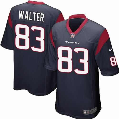 Kevin Walter Jersey Houston Texans #83 Youth Navy Limited Jersey Nike NFL Jersey Sale