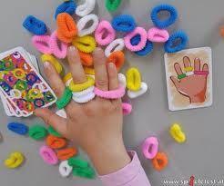 De tafel ligt vol met gekleurde bandjes. Draai steeds een kaart om. Daar staat een hand op afgebeeld. Maak deze na door zo snel mogelijk bandjes om je vingers te doen. Als je klaar bent, mag je op de bel drukken. Doe je dat het snelste, dan win je de kaart. Heb jij aan het einde van het spel de meeste kaarten?  Ring L Ding is een hilarisch spel, dat onbewust motorische vaardigheden, reactiesnelheid en combinatievermogen bevordert.