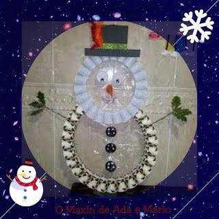 O Maxín de Ada e Mario: Un muñeco de nieve con vasos