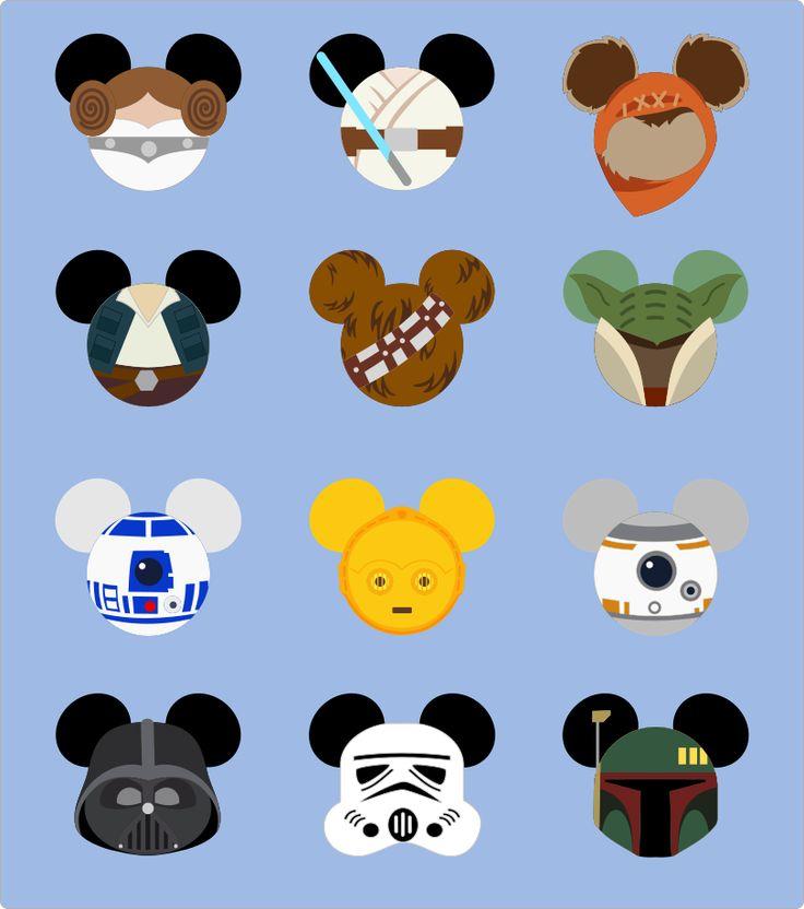 Here Princess Leia, Luke Skywalker, Han Solo, Chewbacca,   Yoda, R2D2, CP3O, BB8, Boba Fett, Darth Vader, a Storm Trooper, and an Ewok   sp...