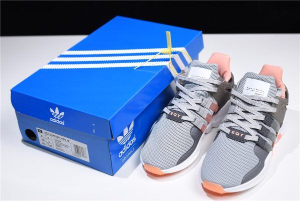 sports shoes f68cf 5cf30 adidas Womens EQT Support ADV Grey Two Grey Five Chalk Coral CQ2254-2