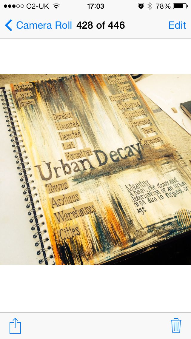 Stunning sketchbook surface by Year 12