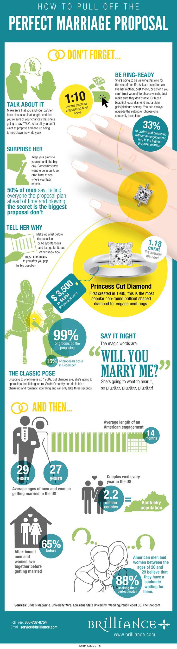 Hoe ziet een ideale huwelijkaanzoek eruit? #huwelijk #trouwen #infographic