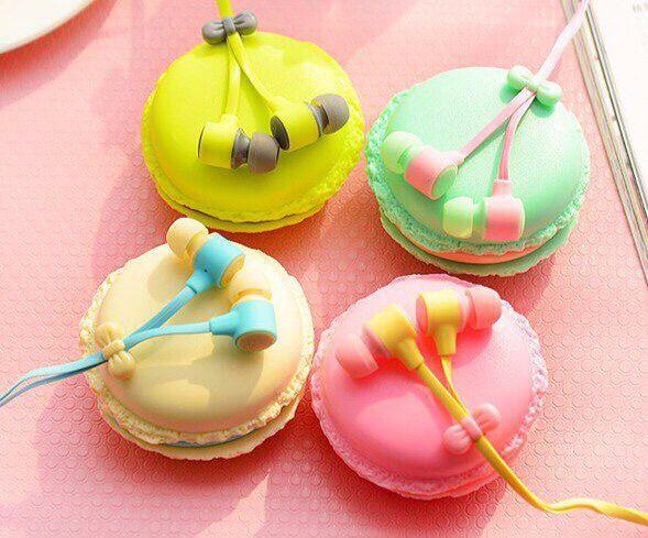 Очаровательные наушники в виде печенья макарон