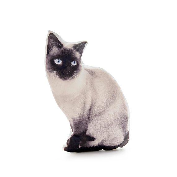 Siamese Cat Cat Pillow Cat Cushion Black Decor Beige