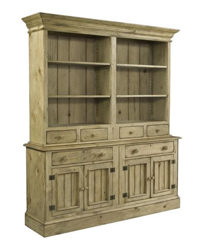 Kincaid Furniture Homecoming - Vintage Pine Open Hutch